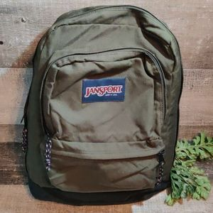 Jansport classic army green backpack